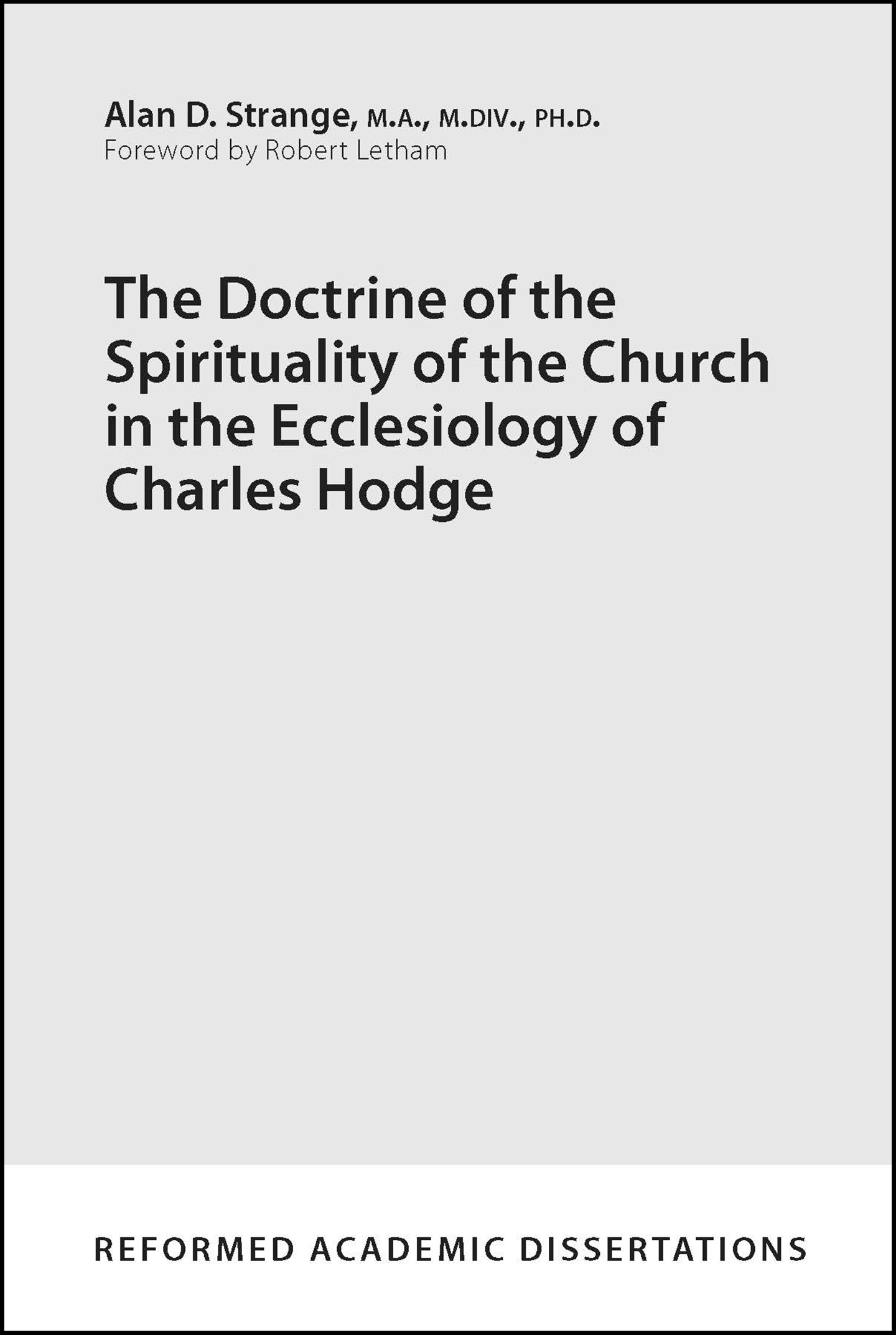 The Doctrine of the Spirituality